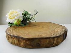 Wood Cake Stand Wedding Cake Stand Wood Slab Wood Slice