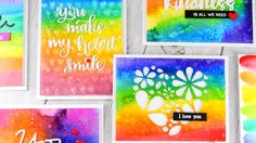 Prima Watercolor Confections + Rainbow Cards + Kindness Day
