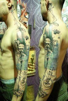"Xoïl, aka Loïc, a talented tattoo artist created these works of art. He works in the ""Needles Side Tattoo Studio"" based in Thonon-les-Bains, France."