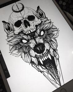 Cat Tattoo Face - Back Tattoo Drawings - - - Tattoo Ideen Fuss - Wolf Tattoos, Skull Tattoos, Sexy Tattoos, Body Art Tattoos, Girl Tattoos, Tattoos For Guys, Animal Tattoos, Tatoos, Wolf Tattoo Design