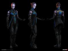 ArtStation - Mass Effect 3 - DLC Liara Alt apearance, Alex Figini