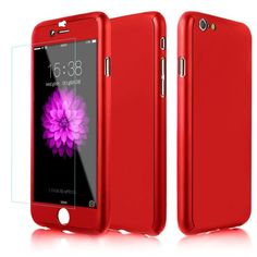360 full body Matte Finish Dual Layer Hard Case for funda iPhone 7 6 Plus with Tempered Glass Screen Protector for iPhone Glass Protector, Tempered Glass Screen Protector, Iphone 6 Cases, Iphone 7 Plus, Iphone 8, Phone Case, Samsung Galaxy S6, Iphone Gadgets, Huawei P10