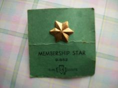 Vintage Girl Scouts Membership Star Pin 9652 by thewildrecluse, $4.95...these were so important...
