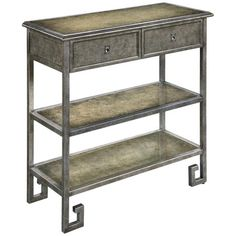 this table actually would be perfect for a bar cart type thing, but I would prefer if the top was mirrored. maybe that would look dumb though. 2 of 2 options