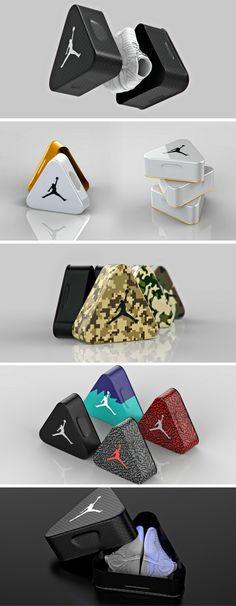 Air Jordan Triangle Aluminum Shoebox (Concept) packaging by Tomislav Zvonaric