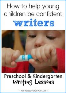 How to help young children be confident writers - The Measured Mom