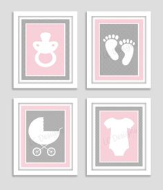 Nursery Prints  Baby Themed Silhouettes  by PerfectlyMatched, $10.00