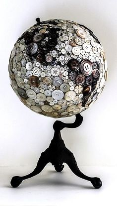 A button globe?!?! would look spectatular above my cabinets with my other red black silver/white color scheme : )  doing it!!!