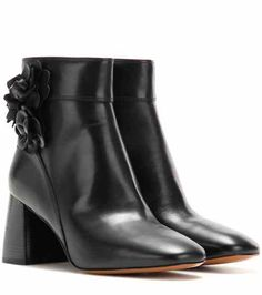Blossom 70 leather ankle boots | Tory Burch