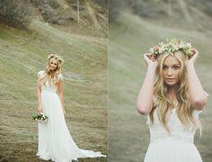 Beautiful dress and head piece