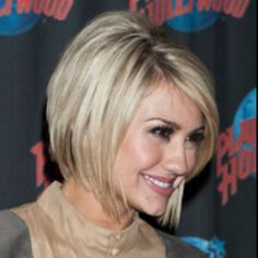 Chelsea Kane with her hair cut into a right past the jaw line bob. Featuring blunt ends and soft layers around the face. Choppy Bob Hairstyles, 2015 Hairstyles, Short Hairstyles For Women, Pretty Hairstyles, Bob Haircuts, Hairstyle Ideas, Carre Haircut, Line Bob Haircut, Haircut Layers