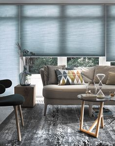 For the Living Room Honeycomb blinds are in a league of their own and are the go-to blind when it co Hunter Douglas, Honeycomb Blinds, Honeycomb Shades, Living Room Blinds, Living Room Windows, Perfect Fit Blinds, Fitted Blinds, Beautiful Blinds, Skylight Window
