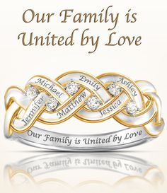 Create a beautiful symbol of your family that can be cherished for always! This beautiful family ring can be personalized for free with up to 6 engraved names for a one-of-a-kind design. Only available from The Bradford Exchange and backed by the best guarantee in the business. Hurry to get it to Mom on time!