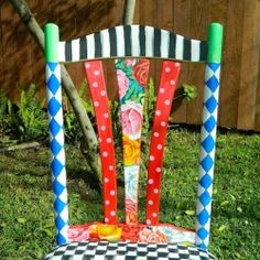 Whimsical chair redo. Quite possibly my favorite!