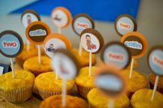 SevenOneSix: Airplane Birthday Party - Custom cupcake/cornbread muffin toppers