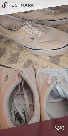 c8941f38df Shop Men s Vans White size Loafers   Slip-Ons at a discounted price at  Poshmark. Description  All White. Some blemish.