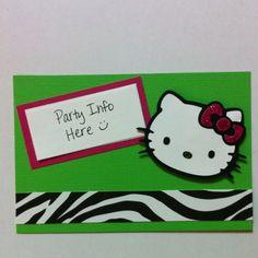 Hello Kitty Birthday Invite