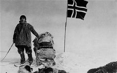 roald amundsen - first walk on the south pole - 1911