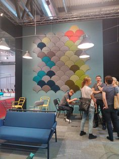 Our Ginkgo Acoustic Panels In The Milan Furniture Fair At The Bla Station  Stand, 2014
