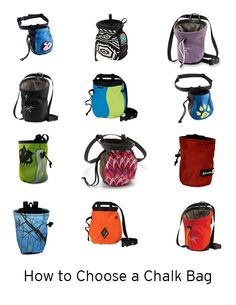 EXPERT TIPS: for choosing chalk and chalk bags.
