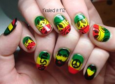 # rasta Braids sweets Fashion, wallpapers, quotes, celebrities and so much more # rasta Braids sweets # rasta Braids sweets OMG sweet rasta nails! Cute Toe Nails, Cute Toes, Bob Marley Nails, Weed Nails, Rasta Nails, Back Braid, Store Coupons, Cute Nail Designs, Acrylic Nails