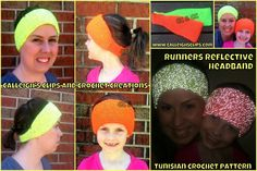 Runner's Reflective Headband Crochet Pattern