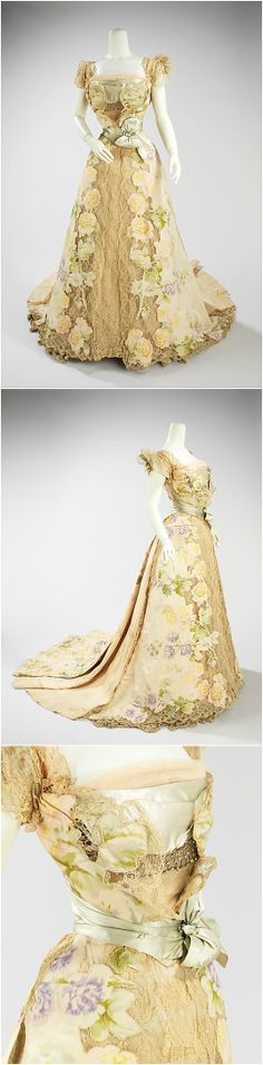 Evening dress, by Jean-Philippe Worth, 1902, at the Met. See: http://www.metmuseum.org/collections/search-the-collections/156788?img=0
