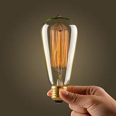 Light In the Box Retro Vintage Industrial Incandescent 60W Filament Bulb