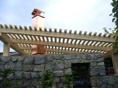 Jak jsme stavěli venkovní kuchyň | Svět pod střechou - Vintage a provence dekorace do bytu Idaho, Provence, Pergola, Outdoor Structures, Kitchen, Cooking, Outdoor Pergola, Kitchens, Cuisine