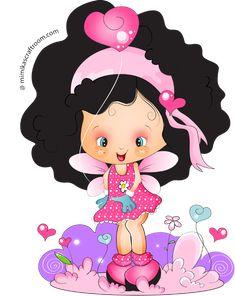 CH.B *✿* Cute Little Girls, Cute Kids, Girl Cartoon Characters, Clip Art, Baby Posters, Disney Fairies, Holly Hobbie, Modern Cross Stitch Patterns, Cute Images