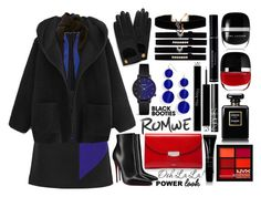 Hooded coat by igiulia on Polyvore featuring MSGM, Christian Louboutin, CÉLINE, BaubleBar, Yves Saint Laurent, EF Collection, Mulberry, Proenza Schouler, NYX and Christian Dior