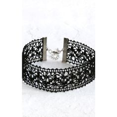 Aluna Mae Millie. Thick Crochet Lace Choker (533.815 VND) ❤ liked on Polyvore featuring jewelry, necklaces, thick necklace, choker necklace, thick choker necklace and choker jewelry