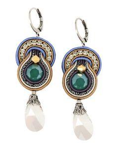DORI CSENGERI Women's Earrings Green -- --