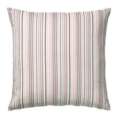 """Elvilda"" pink stripe cushion cover from Ikea."
