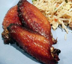 Really good, simple recipe! Really yummy wings. I never have any leftovers. Marinating time is added in prep time.
