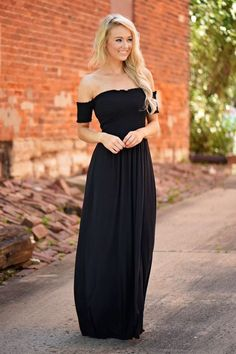 9f6ae11813f Black Off The Shoulder Dress – The Pulse Boutique