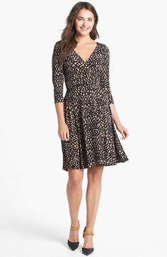 Maggy London Print Jersey Fit & Flare Dress | Nordstrom