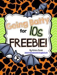 Halloween CCSS math center Freebie!