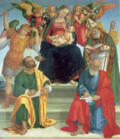 Madonna and Child with Saints and Angels - Luca Signorelli