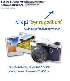 Campaign using Newsperience Facebook Photo App / fotokonkurrence  Sol og strand - bedste feriebillede