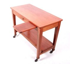 Antique-Vintage-Writing-Desk-Architects-Table-Solid-Stripped-Mahogany-Portable-R