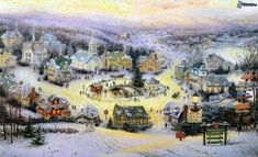 thomas kinkade christmas village | Download picture