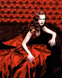 Nicole Kidman as Satine in Moulin Rouge by Annie Leibovitz for Vogue (December 2000).