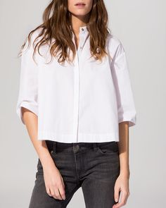 Maje Shirt - Cotton Poplin Crop Shirt | Bloomingdale's