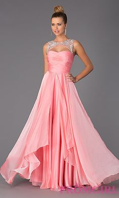 Floor Length Sleeveless Prom Dress at PromGirl.com #Senior #Prom #2015 I want this dress so unbelievably bad oh my god
