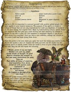Inspiration Magic Spell Book of Shadows Wicca by steelgoddess