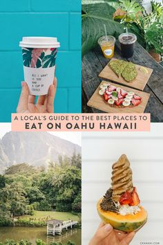 A locals guide to the best places to eat on Oahu Hawaii. The best malasadas shave ice views and more in Honolulu/Waikiki the North Shore Kailua and Kaneohe! Oahu Hawaii, Kauai, Visit Hawaii, Hawaii Life, Kailua Oahu, Hawaii Honeymoon, Backpacking Europe, Bora Bora, Belize