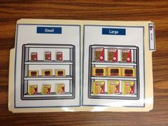 I am so excited to add these grocery store file folders to our collection. They work on a variety of skills with a fun real life application...