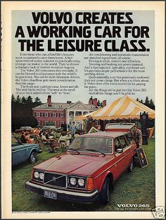 1976 VOLVO 265 Red STATION WAGON Photo AD | eBay