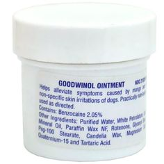 Goodwinol Ointment 1oz ** Be sure to check out this awesome product. (This is an affiliate link and I receive a commission for the sales)